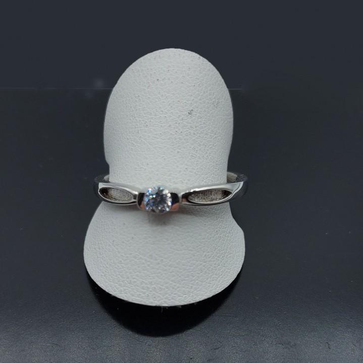 Zilveren ring met Zirkon