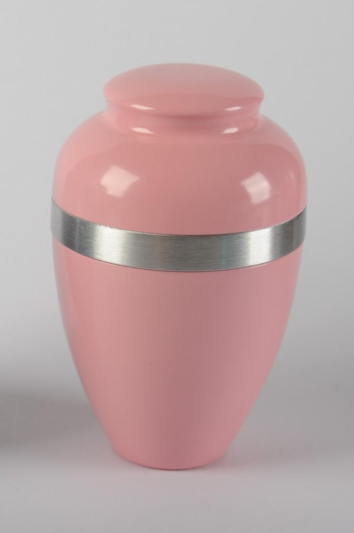 Urn poedercoat roze