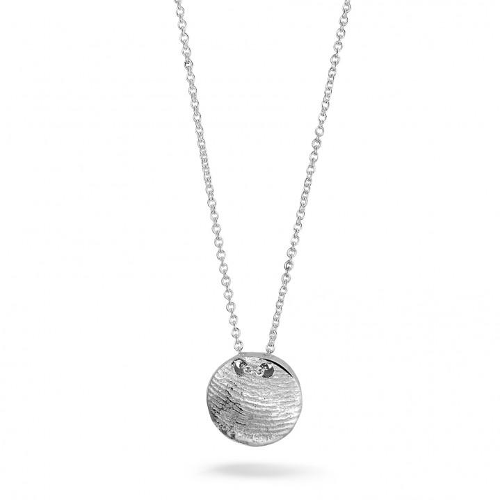 Zilveren collier met zilveren vingerafdruk
