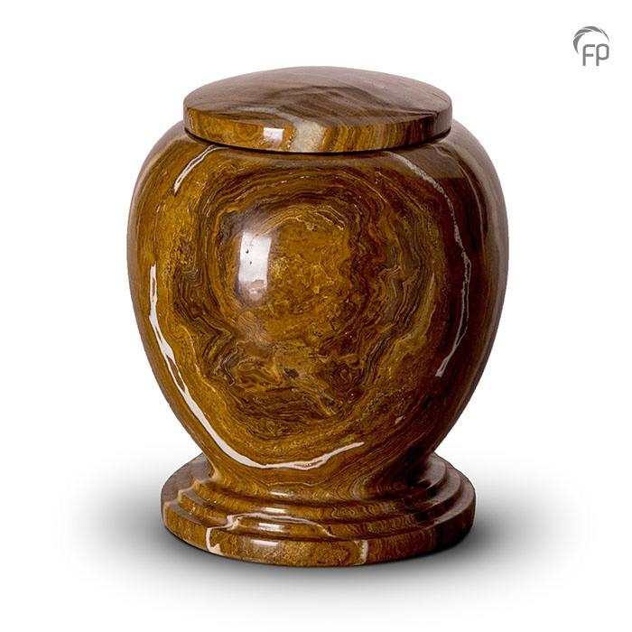 Bruin met wit marmeren urn