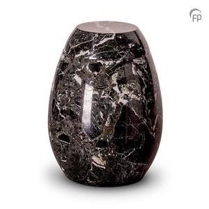 Deze marmeren urn is geschikt voor de volledige as.