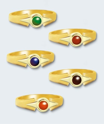 Damesring in bi-color goud, inclusief steen (rond).