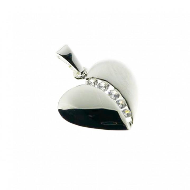 Zilveren hanger met zirkonia