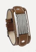 Bruin kalfslederen armband met asruimte