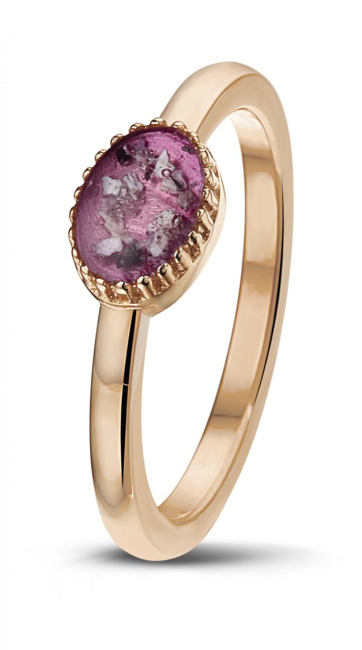 14 krt rose gouden ring.