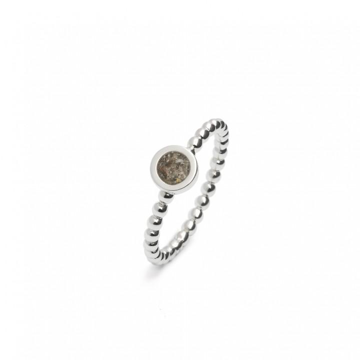 Zilveren ring, rond
