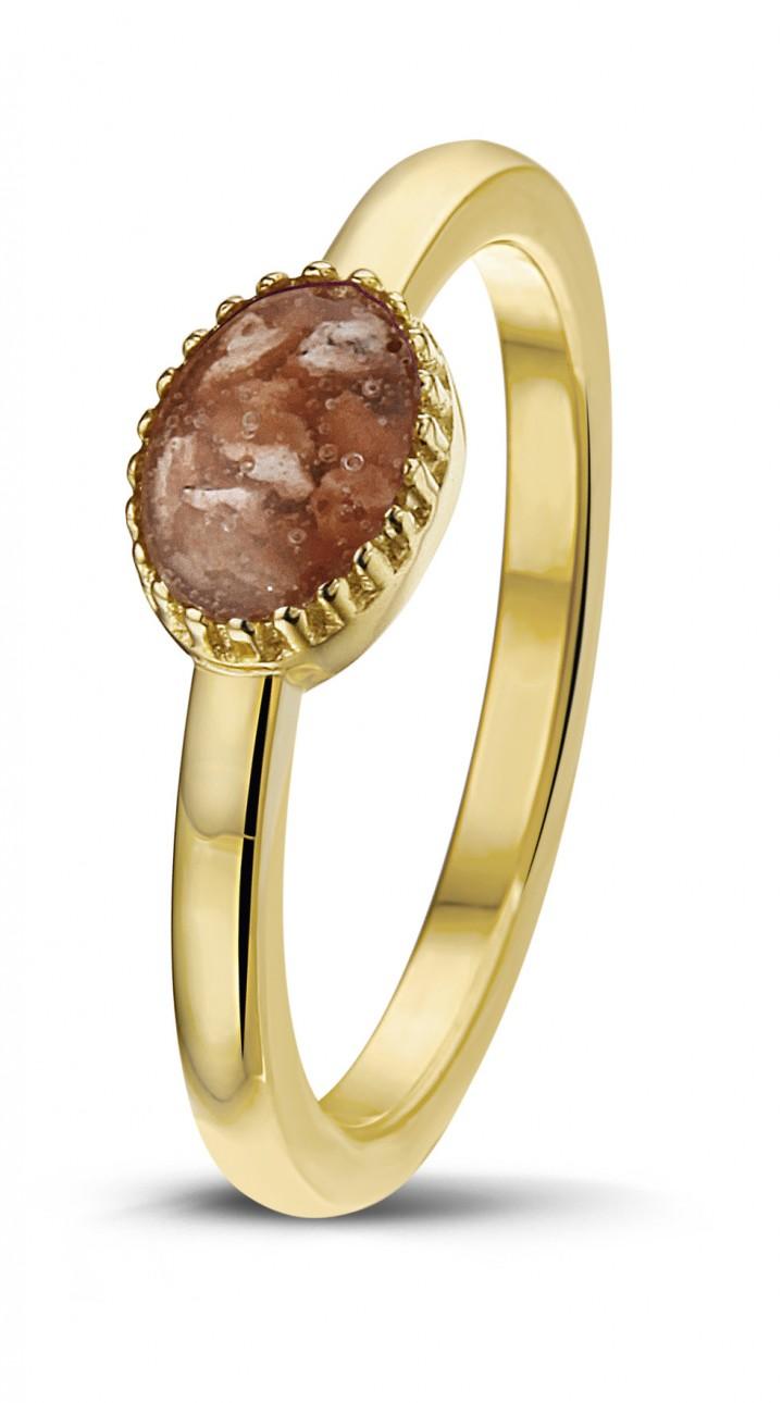 14 krt geel gouden ring.