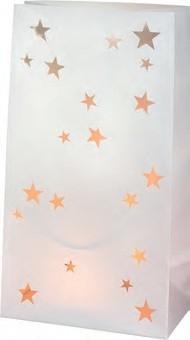 Twee lichtzakjes met sterren