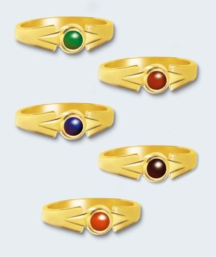 Gouden damesring inclusief steen (rond).