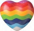 Gekleurde stenen harten