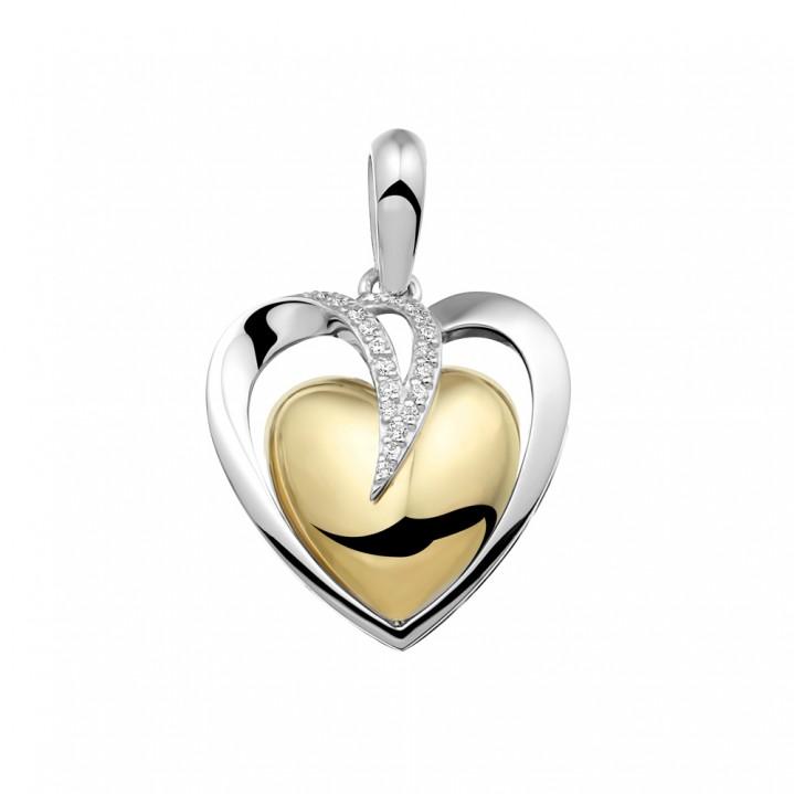 Zilver/gouden hanger