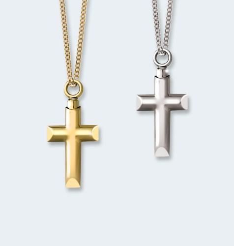 Zilver hanger, kruisje