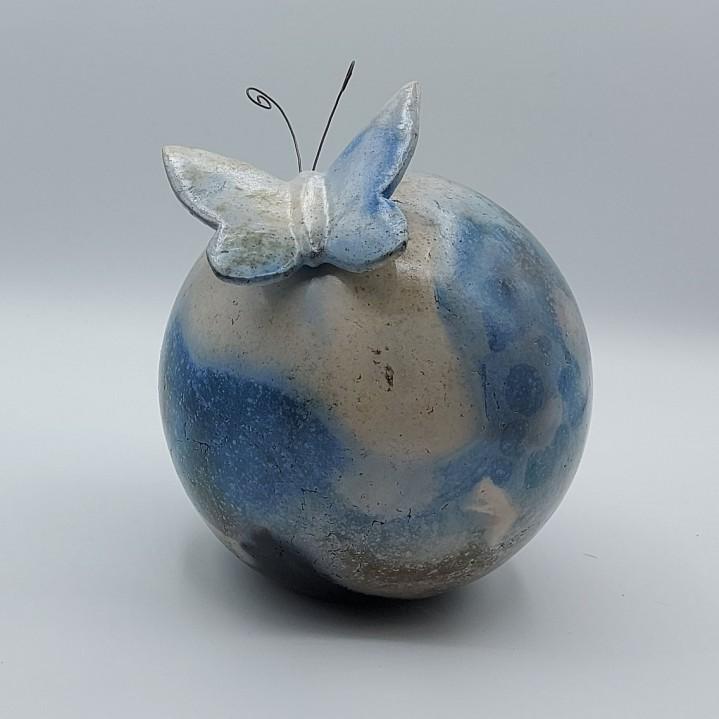 Bol met vlinder sluiting blauw