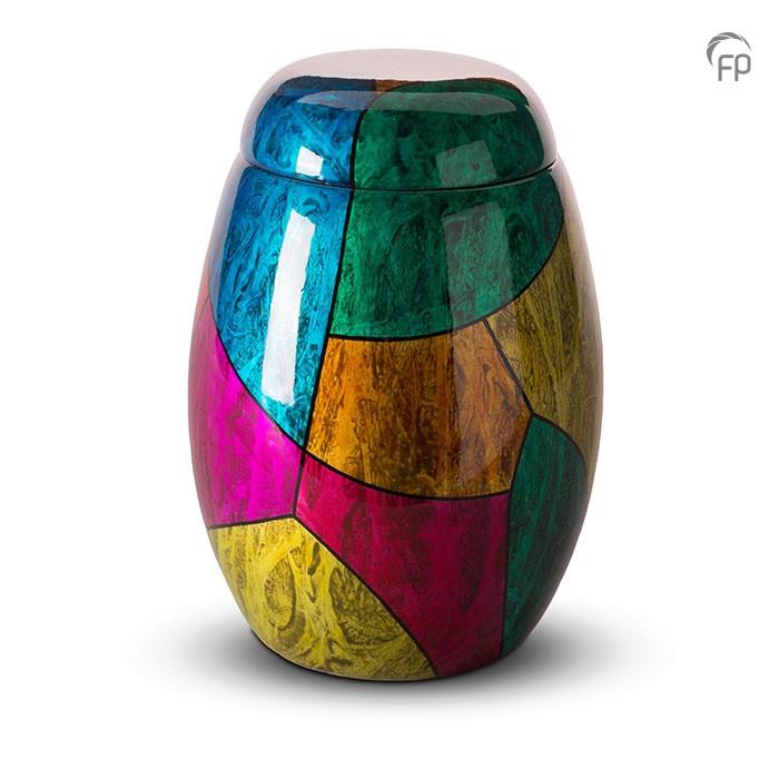 Multicolor glasfiber urn
