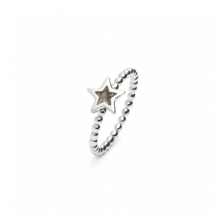 Zilveren Ring in stervorm