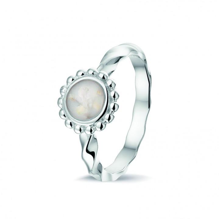 Zilveren ring met gedraaide scheen