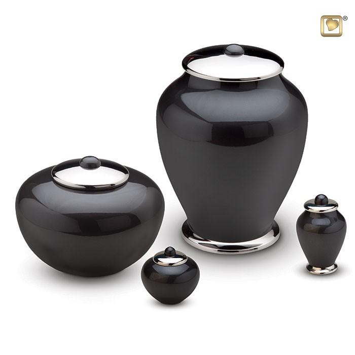 Urn Simplicity zwart, hoog