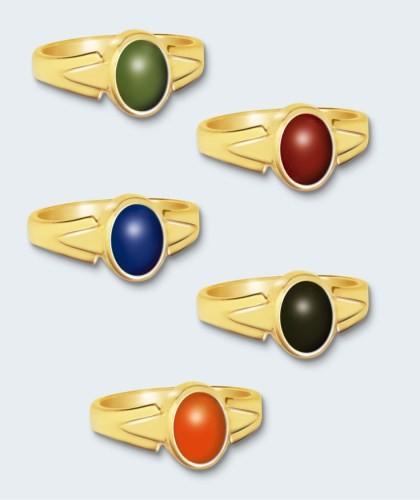 Gouden damesring inclusief steen (ovaal).